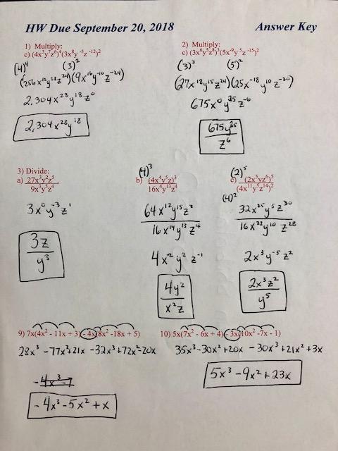 Integrated Algebra 1: Mr. McCormack