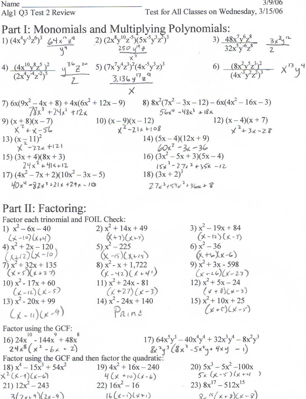 9 3 Solving Quadratic Equations Answer Key - Tessshebaylo