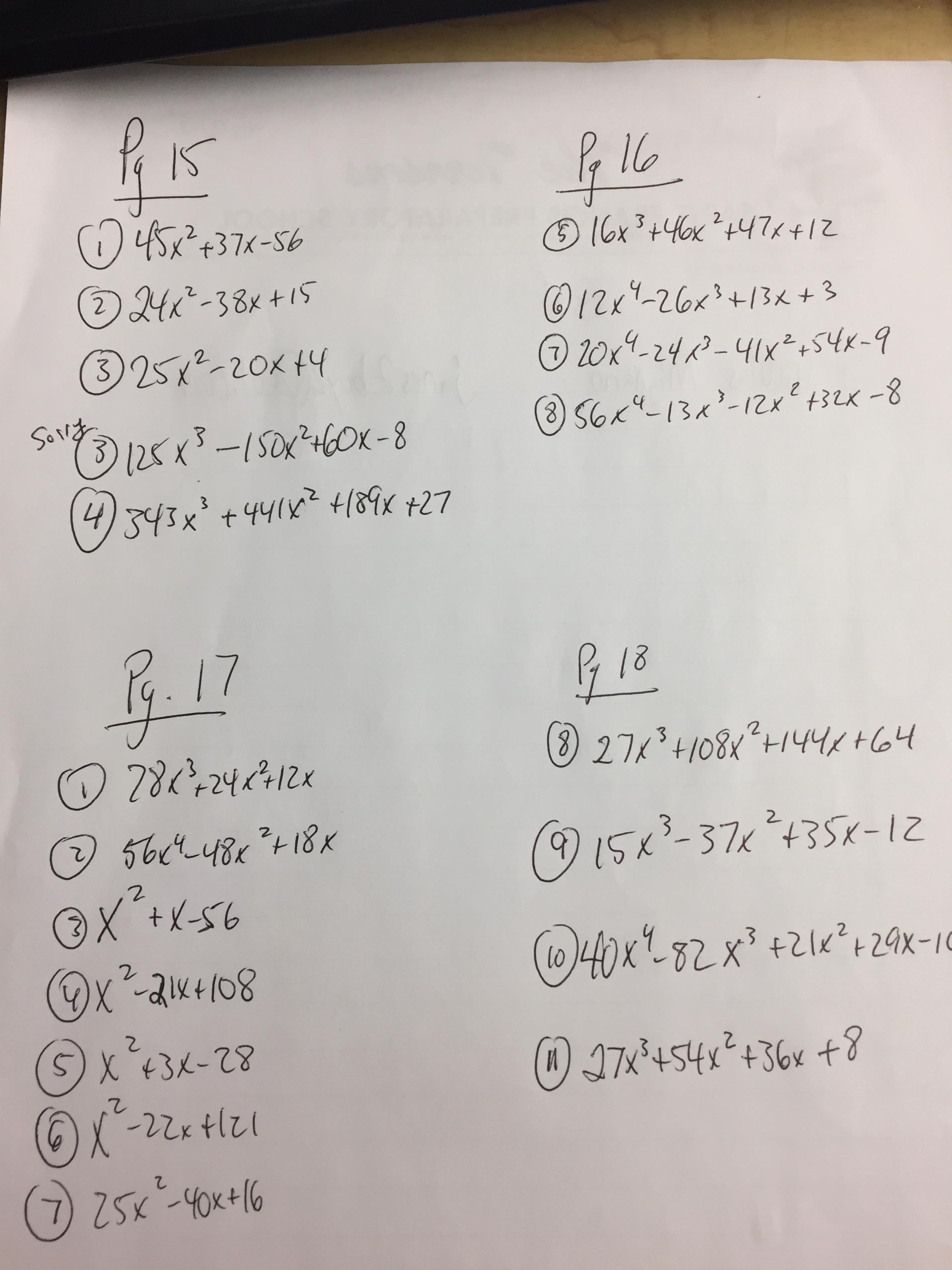 Algebra 1 Unit 8 Test Quadratic Equations Gina Wilson ...